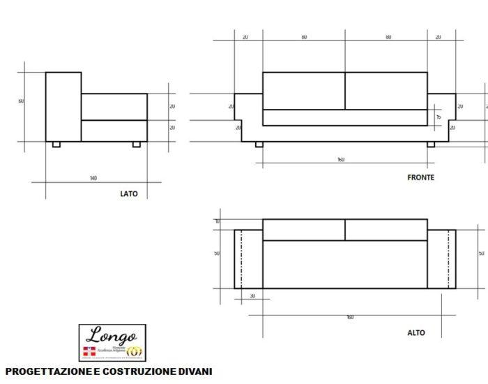 progettazione costruzione divani Torino Pinerolo Orbassano